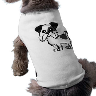 Cute Shih Tzu Cartoon Shirt Black and White