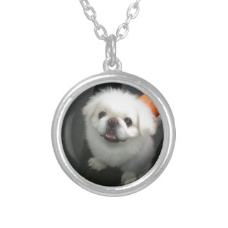 Cute shih tzu looking at the camera personalised necklace