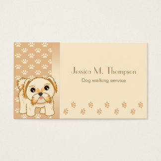 Cute Shih Tzu Puppy Dog Pet Service Industry Business Card