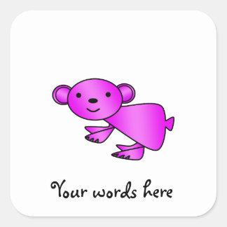 Cute Shiny pink koala Square Sticker