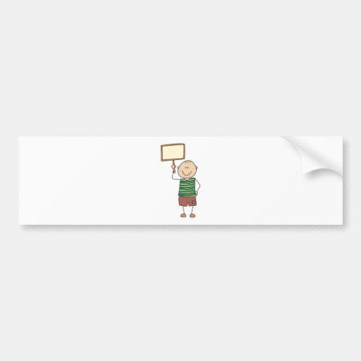 Cute Shirts | Cute Boy Holding Placard Gift Shirts Bumper Sticker