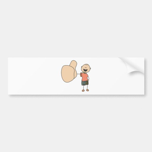 Cute Shirts | Cute Boy Thumbs Up Gift Shirts Bumper Stickers