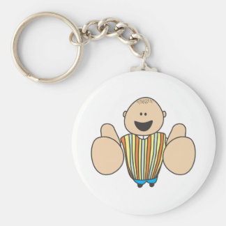 Cute Shirts | Cute Boy Two Thumbs Up Gift Shirts Basic Round Button Key Ring