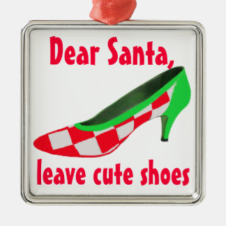 Cute Shoes Letter to Santa Clause Christmas Ornament
