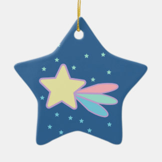 Cute Shooting Star Comet Christmas Ornament