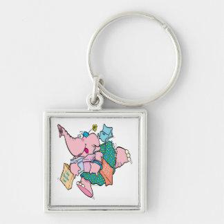 cute shopaholic shopping elephant key chain