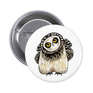 Cute Short Eared Owl Button