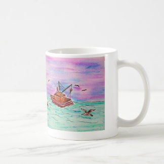 Cute shrimp boat mug