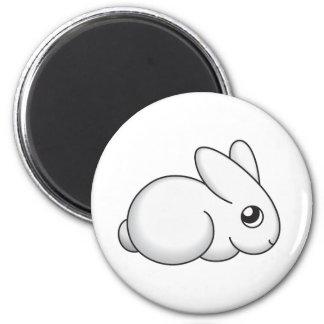 Cute Shy Bunny 6 Cm Round Magnet