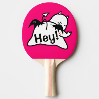 Cute Shy Devil in LOVE Ping Pong Paddle