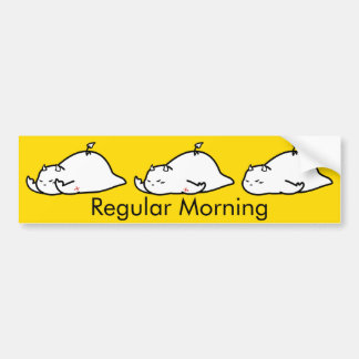 Cute Shy Devil in Morning Bumper Sticker