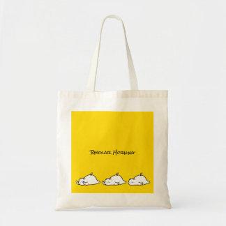 Cute Shy Devil in Morning Tote Bag