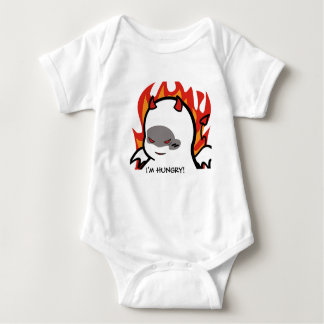 Cute Shy Devil on Fire Baby Bodysuit
