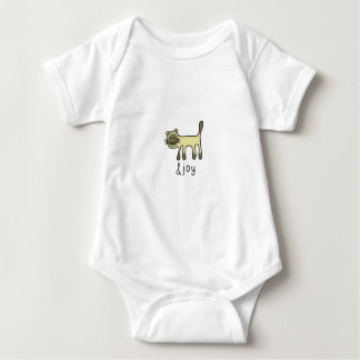 cute Siamese cat & joy doodle Baby Bodysuit