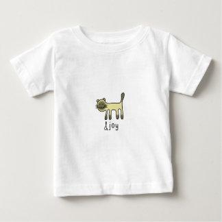 cute Siamese cat & joy doodle Baby T-Shirt