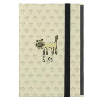 cute Siamese cat & joy doodle Cases For iPad Mini