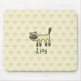 cute Siamese cat & joy doodle Mouse Mat