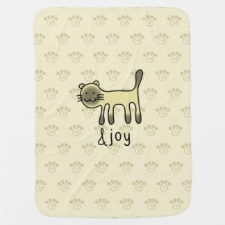 cute Siamese cat & joy doodle Pramblanket