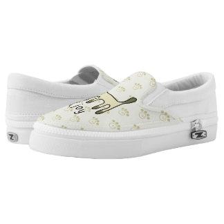 cute Siamese cat & joy doodle Slip On Shoes