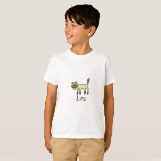 cute Siamese cat & joy doodle T-Shirt