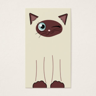Cute Siamese Cat Pet Sitting Service Business Card