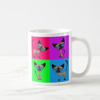 Cute Siamese Cats Coffee Mug
