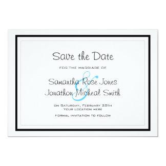 Cute Siamese Cats Tail Heart Wedding Save the Date 13 Cm X 18 Cm Invitation Card