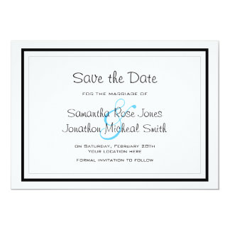Cute Siamese Cats Tail Heart Wedding Save the Date Card