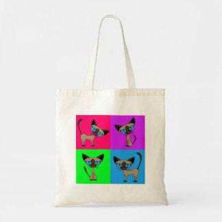 Cute Siamese Cats Tote Bag