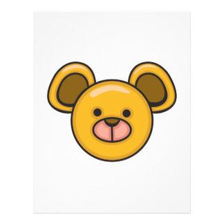 cute silly baby bear face full color flyer