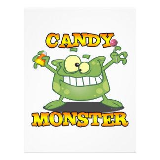 cute silly candy monster cartoon for halloween 21.5 cm x 28 cm flyer