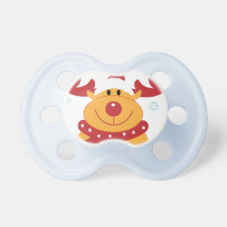 Cute Silly Christmas Reindeer! (Customize It!) Baby Pacifiers