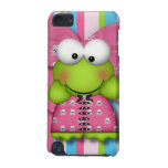 cute silly froggy frog girl in skully dress iPod touch (5th generation) cover