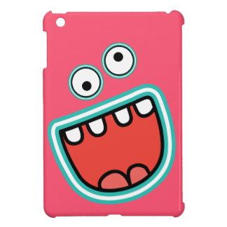 Cute Silly Monster Screaming Face iPad Mini Cases