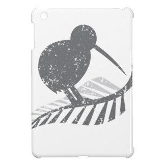 cute silver kiwi bird and silver fern distressed iPad mini covers