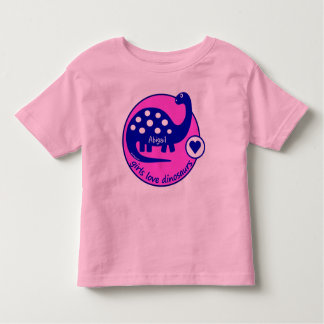 Cute Simple Bright Pink Girls Dinosaur | Dino Toddler T-Shirt