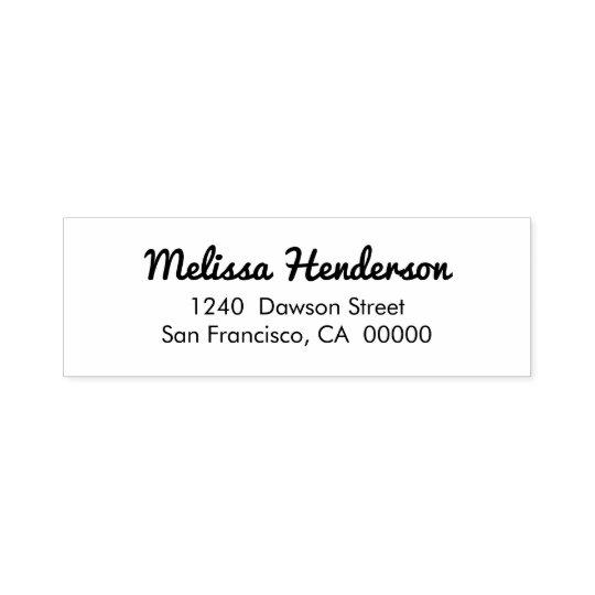 Cute Simple Handwritten Return Address Self-inking Stamp