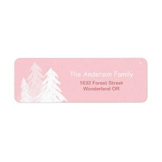 Cute Simple Pink Winter Onederland Address Label