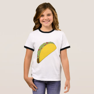 Cute, simple taco drawing shirt