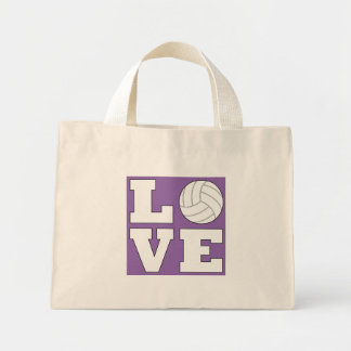 Cute Simple Volleyball LOVE Tote Bag