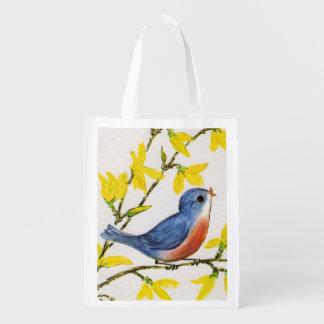 Cute Singing Blue Bird Tree Branch