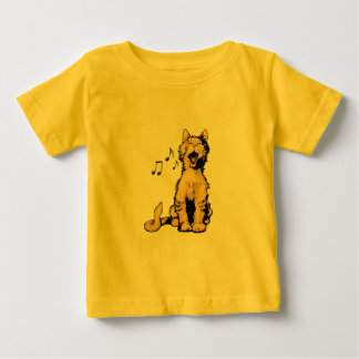 Cute singing orange cat drawing with musical notes t shirts