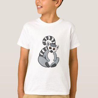 Cute Sitting Ring-Tailed Lemur T-Shirt