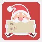 Cute Sitting Santa christmas Gift Sticker