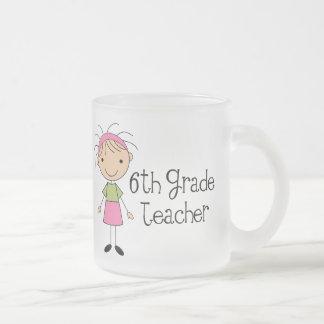 Cute Sixth Grade Teacher 10 Oz Frosted Glass Coffee Mug