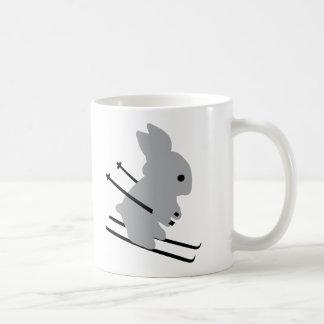 cute ski bunny  snow skiing coffee mugs