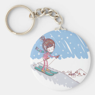 Cute Skiier Key Ring