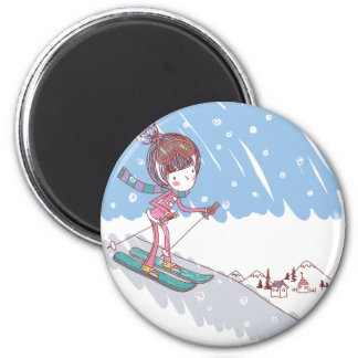 Cute Skiier Magnet