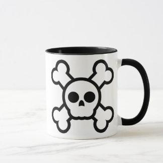 cute skull and crossbones mug