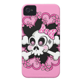 Cute Skull and Hearts Case-Mate iPhone 4 Cases
